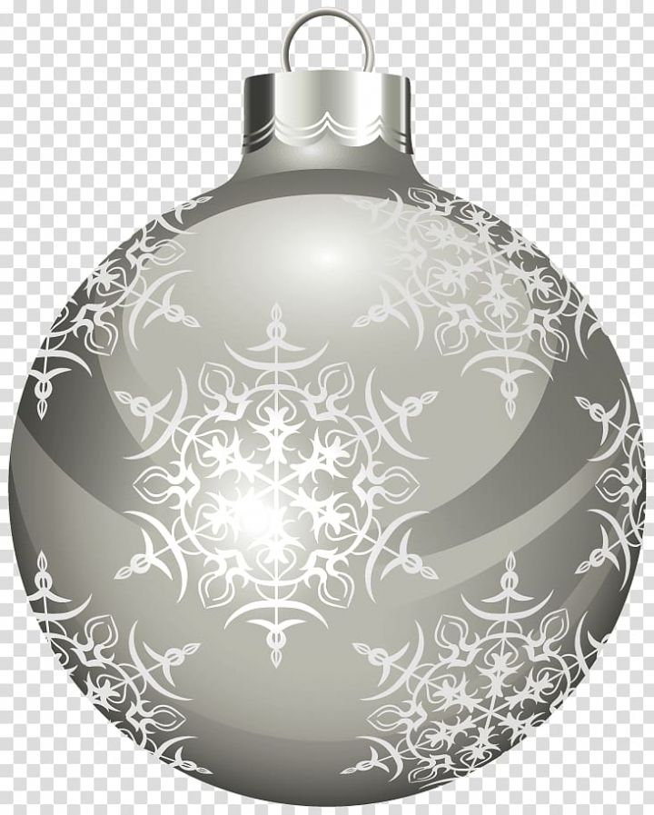 Gray And White Bauble Illustration Christmas Ornament White Christmas Silver Christmas Ball Transparent Backg White Baubles Silver Christmas Christmas Balls