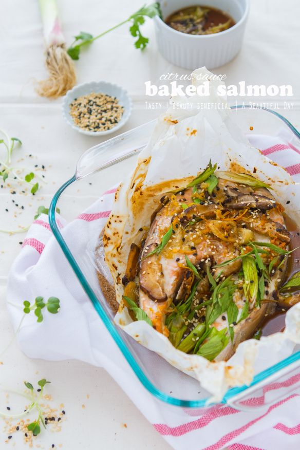 Salmon Recipe and Its Beauty Benefit | Baked Salmon, Baked Salmon ...