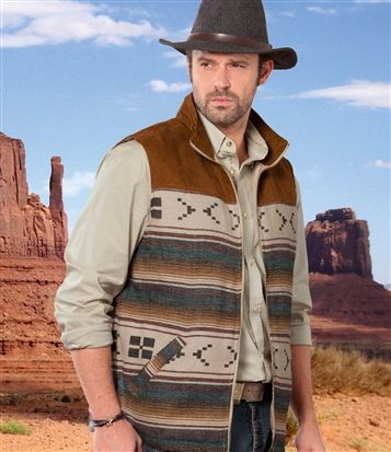 Blouson Sans Manches Tucson #atlasformen #western #cowboy #discount #collection #shopping