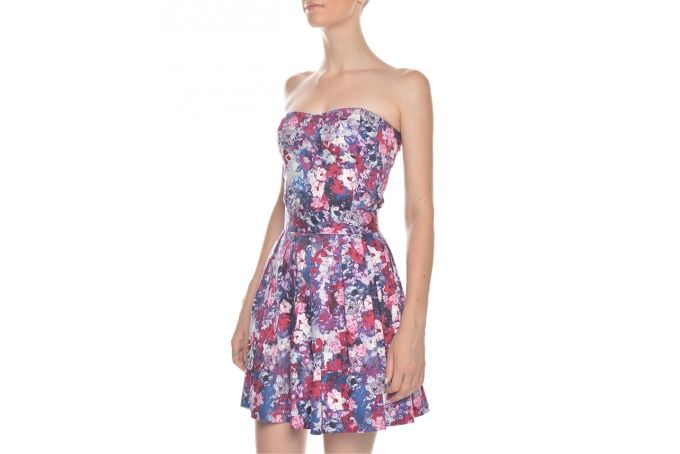 Christiana bustier floral purple by Georgie.B