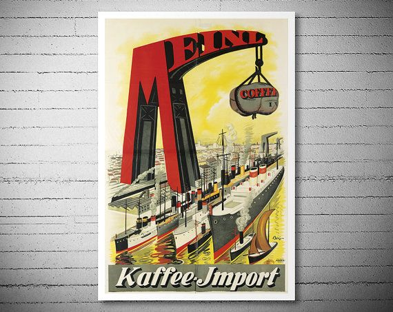 Meinl Kaffee Import Food & Drink Poster by Mihaly by WallArty