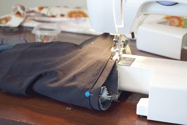 DIY Bauchband an Jeans nähen