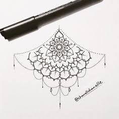 under boob sternum tattoo designs - Google Search