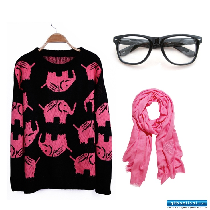 Winter styling Tip!  Get these #eyeglasses here: http://www.gkboptical.com/ray-ban-rb5248-frame-bl-rx165bl49