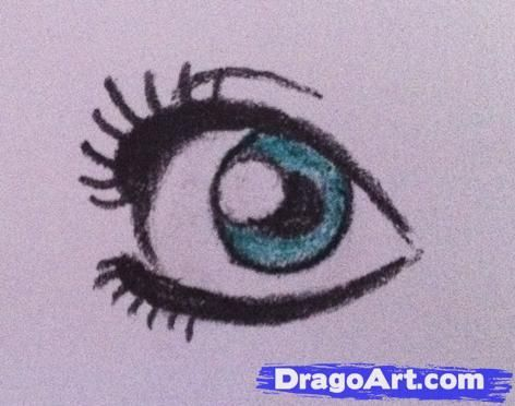 How To Draw Simple Anime Eyes, Step by Step, Anime Eyes, Anime ...: