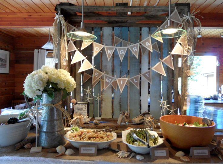 rustic beach themed kitchen decor | 48 best Rustic Graduation Party Ideas images on Pinterest ...
