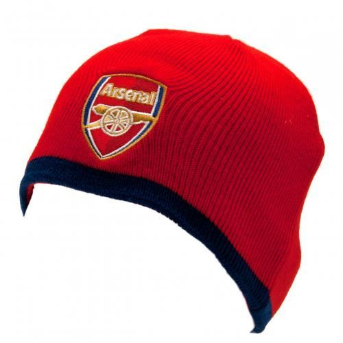 Child's knitted Arsenal hat in club colours and featuring the club crest on the front.  FREE DELIVERY on all of our gifts
