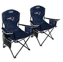 NFL New England Patriots Cooler Quad Chair 2 pack