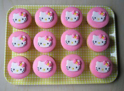 hello hello kitty!: Hello Kitty Cakes, Birthday Parties, Food, Cakes Toppers, Birthday Cupcakes, Hello Hello, Hello Kitty Cupcakes, Hellokitti, Cupcakes Rosa-Choqu