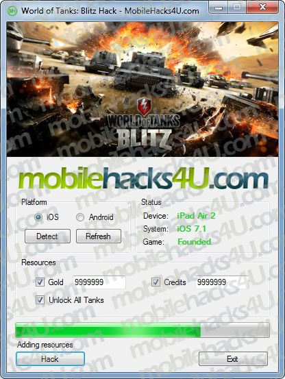 New World of Tanks Blitz Hack Unlimited Gold, Credits download working tool undetected.File updated 2016. No survey download new for World of Tanks Blitz Hack Unlimited Gold, Credits