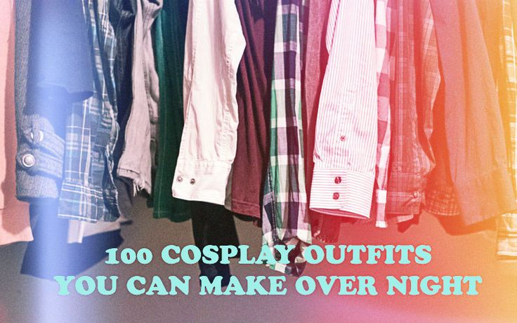 Cosplay costumes that are probably already in your closet!