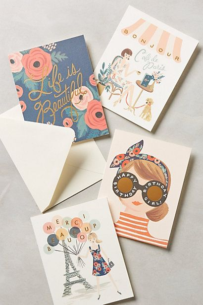 Rifle Paper Co. Cards #anthropologie