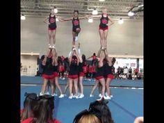UCA Cheer Camp Pyramid - YouTube