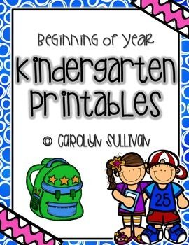 Beginning of the Year Kindergarten Printables for Back to School: Buzz Into Kinder