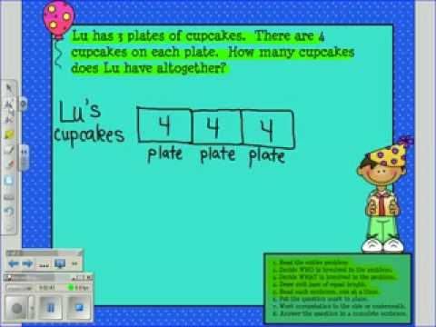 Great video teaching about bar models for multiplication