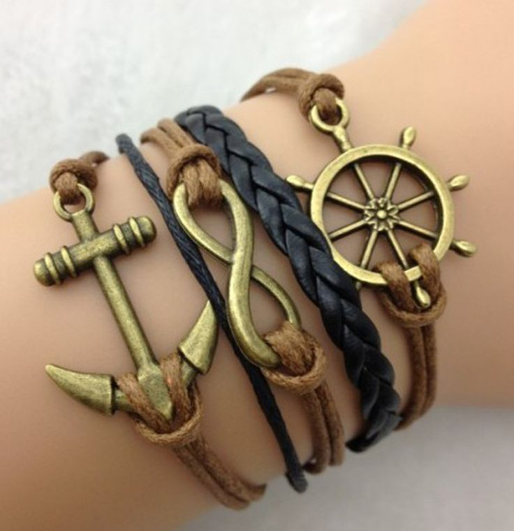 Anchor, Infinity, and Helm Bracelet - Fallfor.com