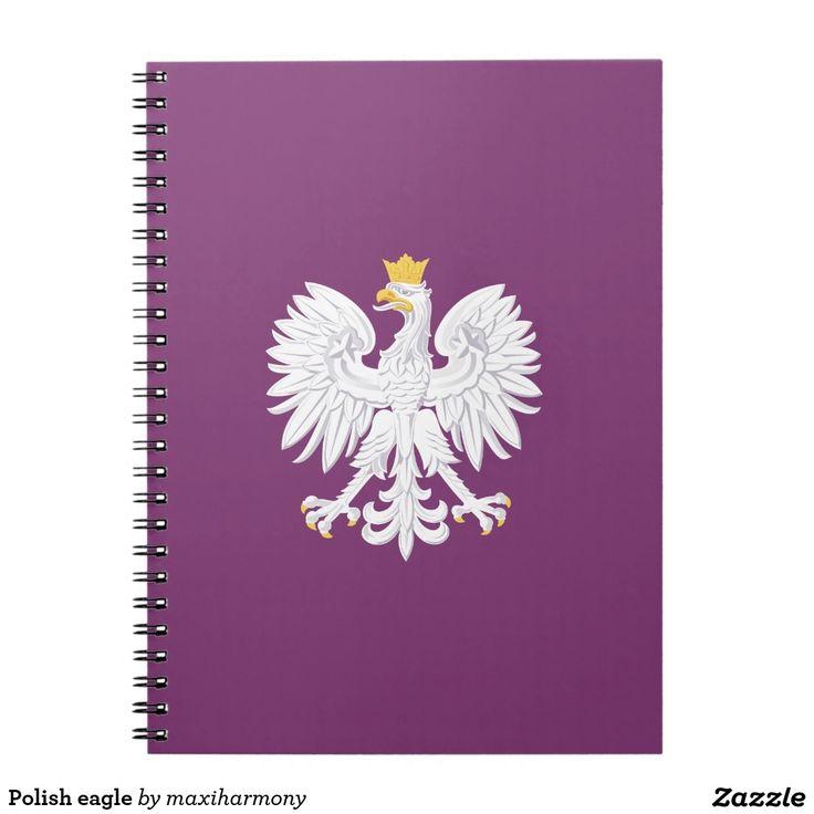 Polish eagle spiral notebook