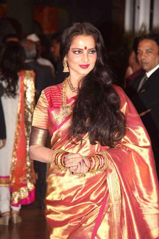 Who Else But Rekha Ritesh Deshmukh At Genelia DSouzas Wedding Reception