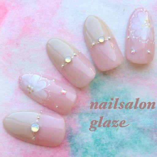 Pink & Nude nail