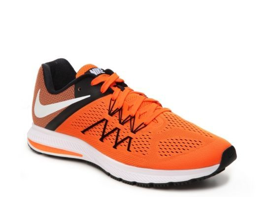 Men's Nike Zoom Winflo 3 Lightweight Running Shoe - - Navy/Orange