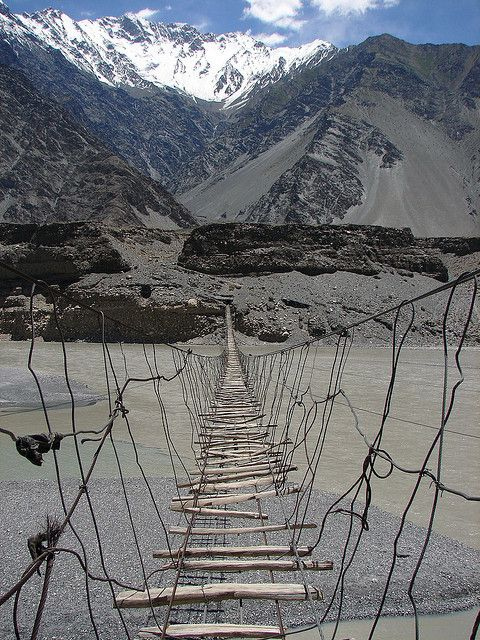 Hussaini Hanging Bridge - 3 of 3 A dangerous path. Follow new