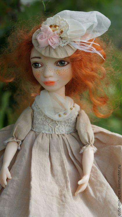 Коллекционные куклы ручной работы. Ярмарка Мастеров - ручная работа. Купить Малышка Люси. Handmade. Бежевый, кукла малышка