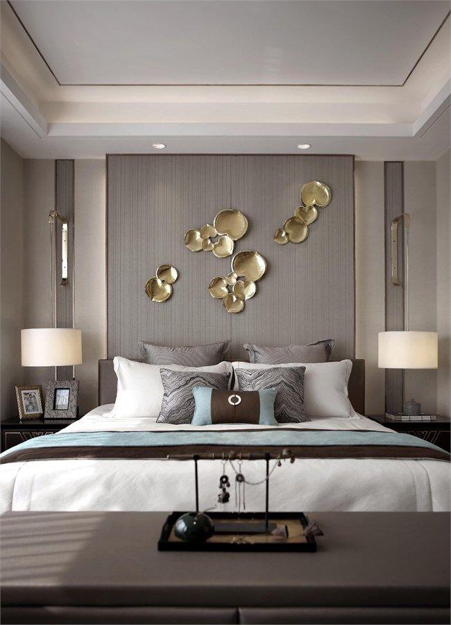 殷艳明 万科翡翠公园别墅样板间设计22 Luxurious Bedrooms Modern Bedroom Design Bedroom Bed Design