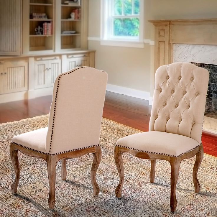 Weathered Hardwood Studded Tan Dining Chair (Set of 2) by Christopher Knight Home (Weathered Hardwood Studded Dining Chair)