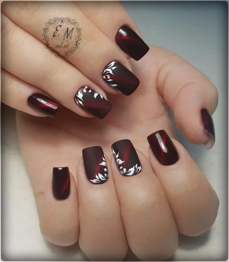 144 best NAILS...WINE / BURGUNDY / PLUM images on ...