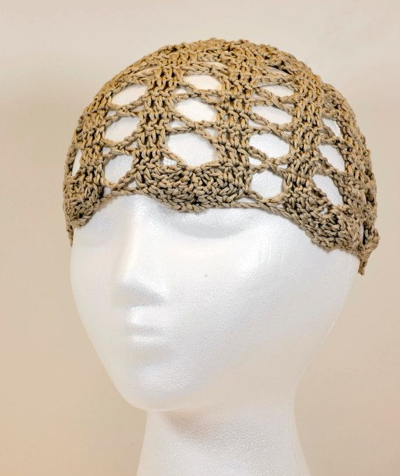 Bruges Lace Tan Headband by WritingPlaces on Etsy