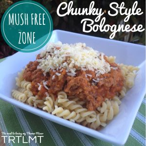 Chunky Style Bolognese - The Road to Loving My Thermo Mixer