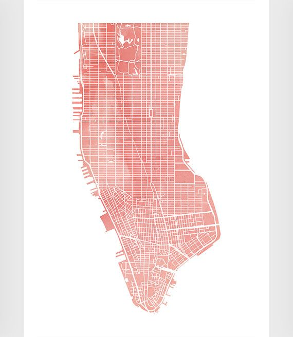 New york print Map New York Industrial poster by ShopTempsModernes