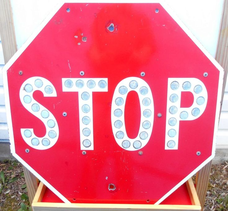 "24"" Vintage Red Porcelain Stop Sign With Reflectors  LOS ANGELES COUNTY C-63"