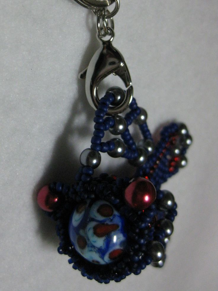 CatFish work - fish ad hoc beading. Try some different sized beads and stones.