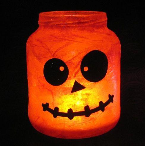 Bricolage : Photophore citrouille pour Halloween