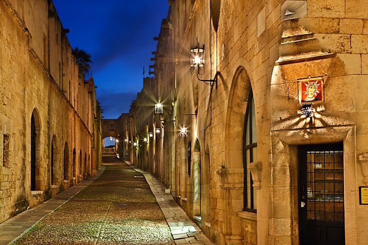"""Probably one of the most famous streets in Greece, if not in whole Europe, is this one, known as the """"Avenue of the Knights""""or """"Street of the Knights"""""""