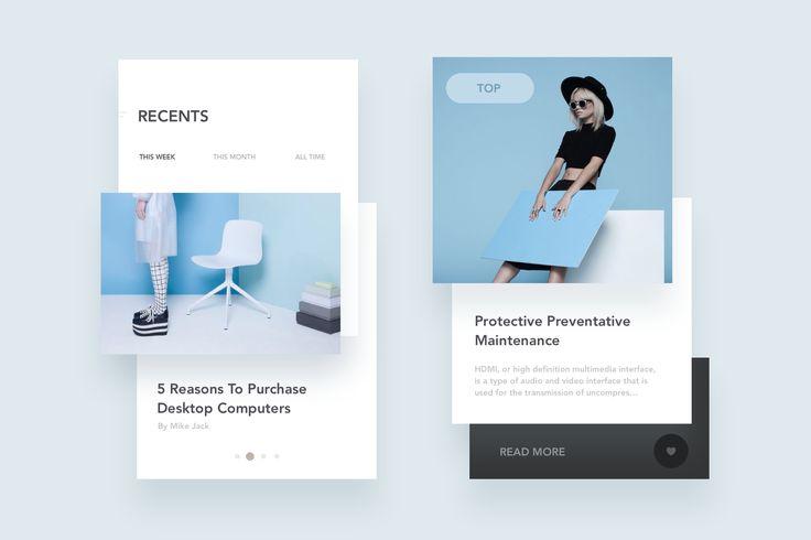 Blog App Layout – UI Kit : Cerpow