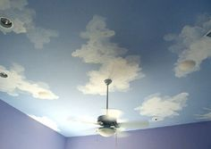 How to paint clouds on walls or ceiling