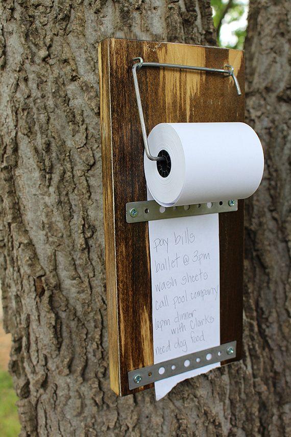 Industrial Rustic To Do List Holder, Brain Board – Barnwood – Organizer, Grocery List Holder, Housewarming Gift
