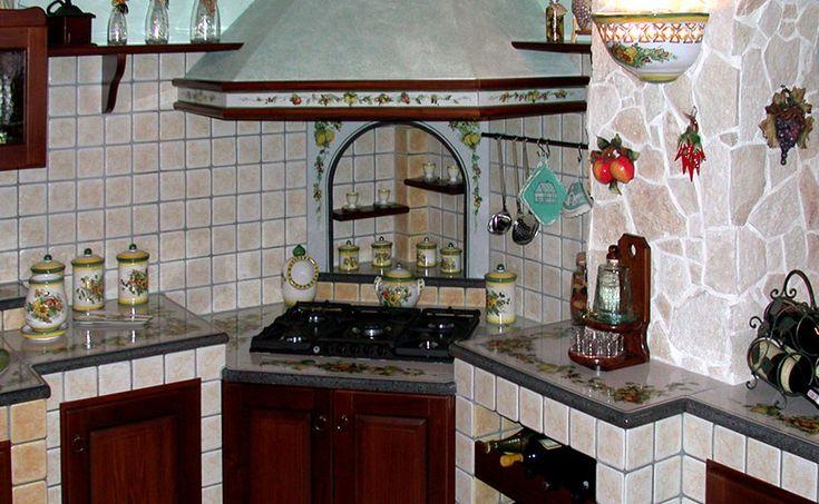 angolo cottura cucina in muratura country   Arredo interni ...