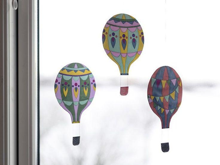 DIY – Printable hot air balloon templates