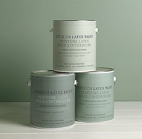 Silver sage wall paint by restoration hardware wall for Restoration hardware paint colors photos