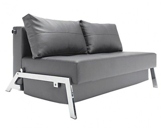 Tufted Sofa Innovation USA Cubed Deluxe Sofa Chrome Legs An elegant pact convertible sofa bed in a design that allows it to be free standing in the middle of a