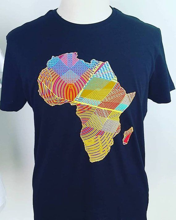 7ef797bbaf7f Africa T Shirt African Map Tshirt Men Clothing Ankara Print