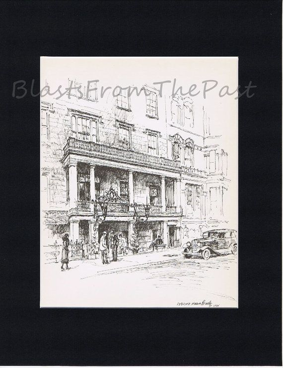 NEW YORK Pencil Sketch Vintage Print with 11 by BlastsFromThePast