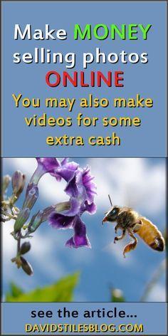 MAKE MONEY SELLING PHOTOS ONLINE. WORK FROM HOME JOB. From: DavidStilesBlog.com