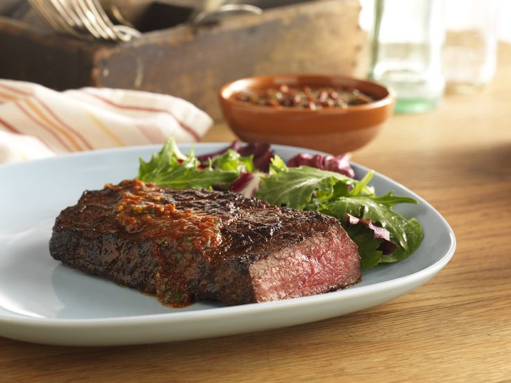 Grilled Sirloin Steak with Spicy Rub & Chipotle SauceImage