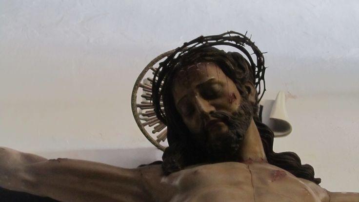 Religious Artifact: Image of Christ on the Cross, Igreja de Sao Pedro in Ponta Delgada Acores ~ Portugal