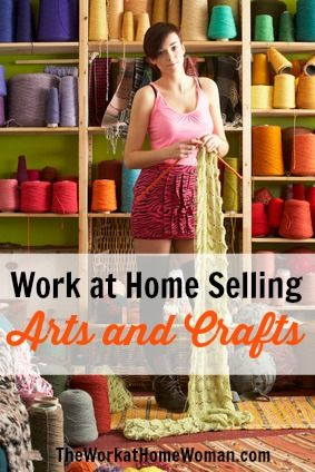 Work at Home Idea – Selling Arts & Crafts Online | The Work at Home Woman