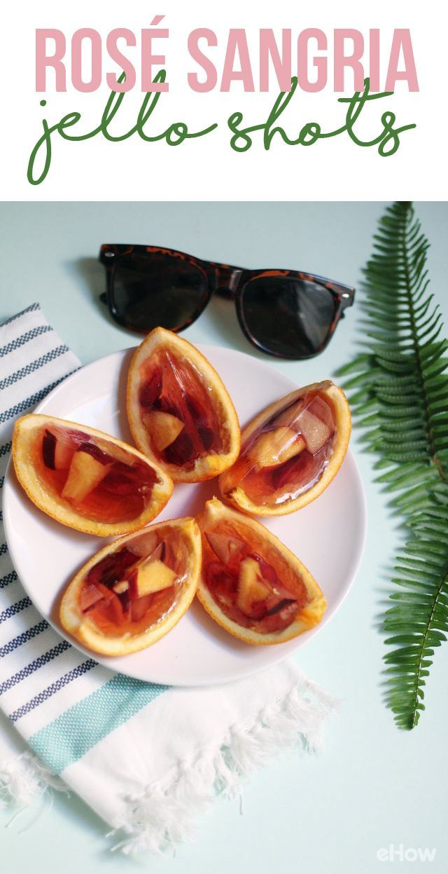 Make the grown-up version of jello shots by serving delicious rosé sangria inside orange wedges. That's right, pink wine in fancy jello form! http://www.ehow.com/how_12343420_class-up-cocktails-rose-sangria-jello-shots.html?utm_source=pinterest.com&utm_medium=referral&utm_content=freestyle&utm_campaign=fanpage